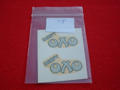"Dinky Toys 453 TROJAN ""BEEFY OXO"" TRANSFERS / DECALS"